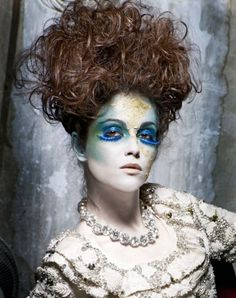 """Garrick Theatre Fashion"" photo by Clive Arrowsmith. Love the hair idea. Maybe the ghost grandmother in Fiddler?"