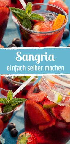 Sommerliche Sangria einfach selber machen Best Picture For Alcoholic Drinks easy For Your Taste You are looking for something, and it is going to tell you exactly what you are looking for, and you did Drink Recipes Nonalcoholic, Summer Drink Recipes, Easy Drink Recipes, Sangria Recipes, Drinks Alcohol Recipes, Non Alcoholic Drinks, Cocktail Recipes, Refreshing Summer Drinks, Summer Cocktails