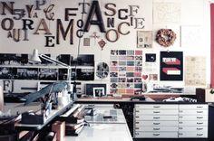 #office - lettering, shelving, printing, artsy, loft