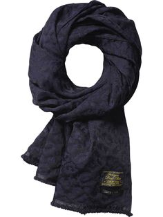 Leopard Jacquard Scarf | College Scarfs | Men's Clothing at Scotch & Soda