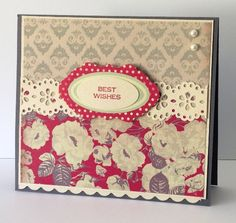 Magnolia Grove by - Cards and Paper Crafts at Splitcoaststampers Shabby Chic Cards, I Card, Magnolia, Paper Crafts, Pearls, Tissue Paper Crafts, Magnolias, Papercraft, Beads
