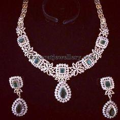 Diamond Necklace latest jewelry designs - Page 46 of 221 - Indian Jewellery Designs Indian Wedding Jewelry, Indian Jewelry, Bridal Jewelry, Indian Bridal, Indian Jewellery Design, Jewelry Design, Diamond Necklace Set, Emerald Jewelry, Gold Jewellery