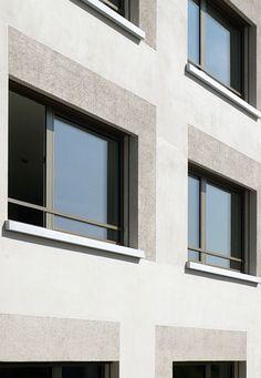 Aktuell | Niedermann Sigg Schwendener Architekten AG Concept Architecture, Facade Architecture, Residential Architecture, Exterior Wall Design, Facade Design, Gray Interior, Big Houses, Interiores Design, Windows