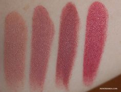 L2R: Focus on, Faux, Twig and Craving from http://kenderasia.com/mac-lipstick-collection/