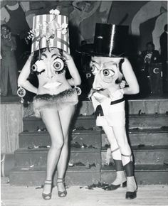 His n hers googly eyes. NY costumes, 1951