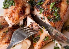 Pollo al Forno (Roast Chicken): Recipes + Menus : gourmet.com