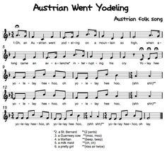 Beth's Music Notes: Austrian Went Yodeling