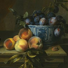 Alexandre-Francois Desportes Still Life with Plums, Peaches and Game, detail 18th century