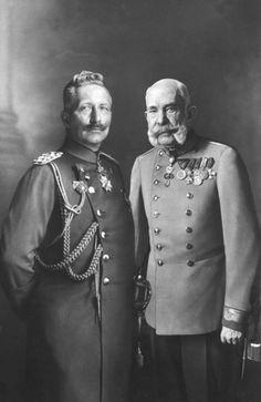 Kaiser Wilhelm II of Germany and Emperor Franz Joseph I of Austria, 1915