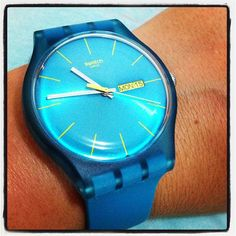 TURQUOISE REBEL http://swat.ch/18w2mbW #Swatch