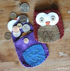 Felt-owl-coin-purse-Crafts-Unleashed-1 I made three of these 10-10-14. The owl will hold an mp3 player with earbuds.