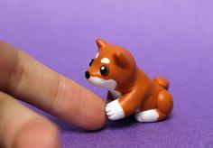 Hello little shiba by SculpyPups.deviantart.com on @DeviantArt