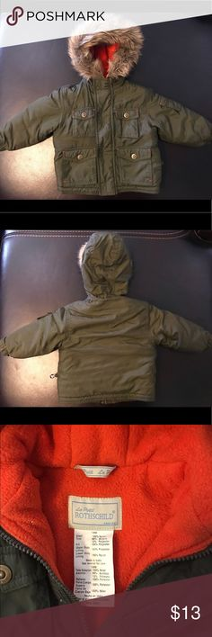 Baby jacket Army green baby jacket. Lightly worn. le petit rothschild Jackets & Coats Puffers