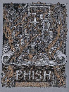 edition of 100 2015 phish ATLANTA happy fish pin by kerrigan