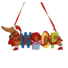 dachshund christmas ornaments say woof if you like dachshund ornaments christmas