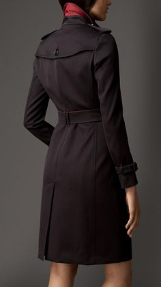 Burberry London Contrast Detail Trench Coat with Warmer
