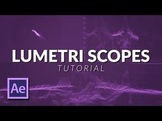 How To Work With Lumetri Scopes in After Effects Tutorial Motion Design, Adobe After Effects Tutorials, Learn Animation, Cinema 4d Tutorial, After Effect Tutorial, Creative Suite, Photography And Videography, Video Editing, Design Tutorials