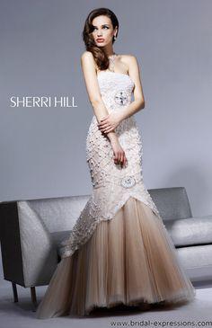 Caroline Forbes Ball Gown | Sherri Hill 2789 Beaded Mermaid Prom Dress