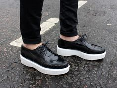 These shoes were made for walking. Robert Clergerie Polo Creepers from:blameitonfashion blog