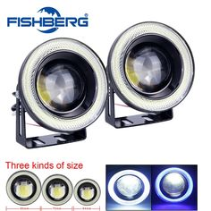 19.94$  Buy here - http://alib3p.shopchina.info/go.php?t=32702759756 - 1pair COB 30W Waterproof Projector LED Fog Light With Lens Halo Angel Eyes Rings 5Colors Optional 12V SUV ATV Off Road Fog Lamp  #buyonline