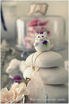 Handmade cat and kitty Wedding Cake Topper | Flickr - Photo Sharing!