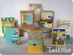 Full set of Cards by Kimber McGray for the Card Kitchen Kit Club; December 2013 Card Kitchen Kit