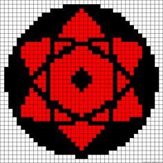 Naruto Sharingan, Diy Perler Beads, Perler Bead Art, Pixel Pattern, Pattern Art, Grille Pixel Art, Pixel Art Anime, Pixel Art Minecraft, Image Pixel Art