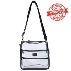 Clear Cross Body Messenger Shoulder Bag Nfl Stadium Roved Transparent Purse