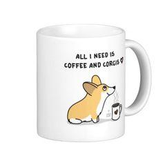 Coffee Corgis Mugs http://www.zazzle.com/coffee_corgis_red_white_mugs-168707535592545377?rf=238675983783752015