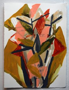 "2014 - Benjamin Gardner : these pass acrylic, flashe, gouache on paper 15"" x 11"""