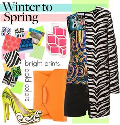 """""""Winter to Spring with Bold Colors and Prints"""" by polyvore-editorial ❤ liked on Polyvore"""