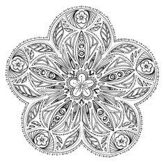 Art therapy for adults - Free printable coloring page for grown ups - Cherry Blossom Flower - Fleur de Cerisier - Dessin à imprimer gratuit - Coloriage anti-stress pour adultes
