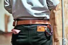 Off set belt the way Dre likes it. Hanker chief in the back pocket for Zai.