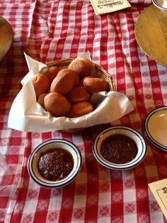 Biscuits & Apple Butter at the Nashville House Restaurant, Nashville, IN.  Yummy!