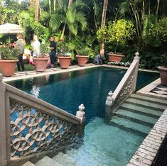 One of the best pools that I have ever seen. This was in a Moroccan inspired pri… One of the best pools that I have ever seen. This was in a Moroccan inspired private garden in Palm Beach. Small Backyard Pools, Small Pools, Backyard Patio, Piscina Interior, Small Pool Design, Luxury Pools, Beautiful Pools, Dream Pools, Swimming Pool Designs
