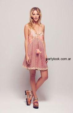 vestido corto hippie chic silvina ledesma