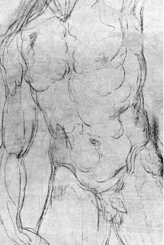 Michelangelo  http://www.beyondtheyalladog.com/2012/10/michelangelos-hidden-drawings-in-the-medici-chapel/