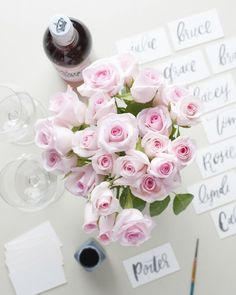 A deluxe order of the Angels bouquet from The Bouqs Company makes a perfect centerpiece for a glamorous and elegant dinner party.