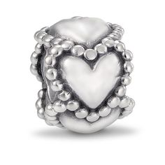 Who doesn't want love to last forever. It will with this sterling silver continues heart charm