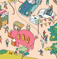 Summer Festivals Illustrations on Illustration Served
