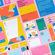 Branding Graphic Design Trends 2019 - Yes I'm a Designer Along with publications and festivals, ther Web Design, Kids Graphic Design, Geometric Graphic Design, Graphic Design Quotes, Design Social, Graphic Design Trends, Graphic Design Illustration, Design City, Graphic Design Branding