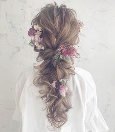 29 Pretty Beautiful and Cute Amazing Hairstyles for Women – Page 17 – Top nail Bride Hairstyles, Pretty Hairstyles, Amazing Hairstyles, Hair Arrange, Braut Make-up, Vintage Hippie, Floral Hair, Wedding Beauty, Prom Hair