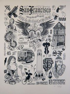 San Francisco print by Mike Giant