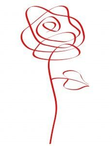 Modern take on the rose. I can find no provenance but think it was a doodle someone did .:
