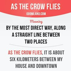 As the crow flies #English