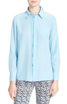 TORY BURCH Silk Shirt. #toryburch #cloth #