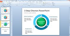 free 3 step chevron powerpoint ppt presentation template