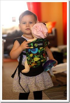 Apparently Boba is coming out with a mini version of its carrier...for baby doll carrying. Sooooo sweet!