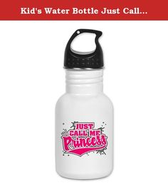 Kid's Water Bottle Just Call Me Princess with Crown. Product Number: 0001-1543559550 Perfect for school lunches or soccer games, our kid's stainless steel water bottle quenches children's thirst for individuality. Personalized for what kids love, it's both eco-friendly and compact. Made of 18/8, food-grade stainless steel. * No lining & no BPA or other toxins * Wide mouth for easy drinking * Durable, BPA-free & phalate-free screw-on top * Holds 0.35L (nearly 12 ounces) * Thin profile to…