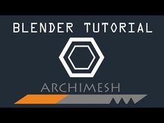 How to use the Archimesh add-on in Blender - YouTube